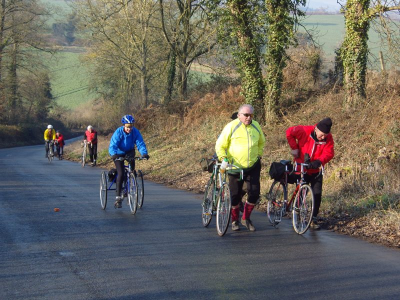 February. Veteran-Cycle Club ride near Ross-on-Wye Photo by Roger Alma