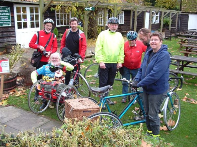 Trike group at Stowmarket Museum (AA)