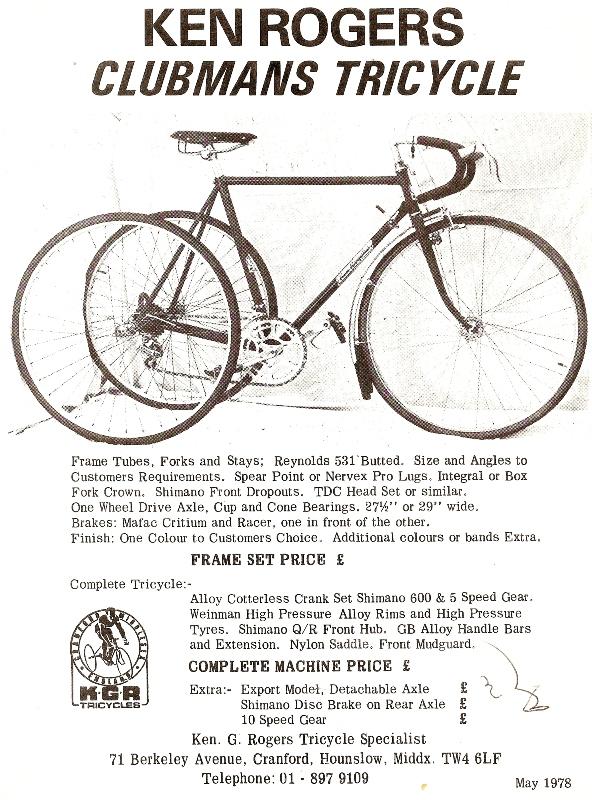 KGR Clubmans Trike