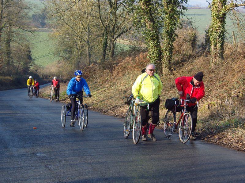 February. Veteran-Cycle Club ride near Ross-on-Wye Photo by Roger Alma