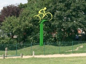 Three Counties Ride @ Bicycle Sculpture, Farndon Road entrance | Newark-on-Trent | United Kingdom